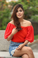 Rhea Chakraborty in Red Crop Top and Denim Shorts Spicy Pics ~  Exclusive 002.JPG]
